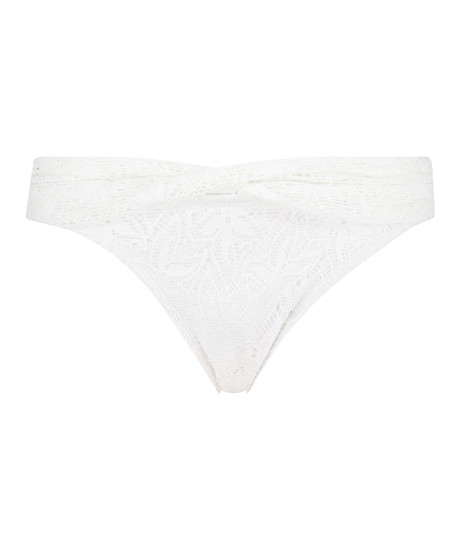 Bas de bikini Rio crochet Etta, Blanc, main
