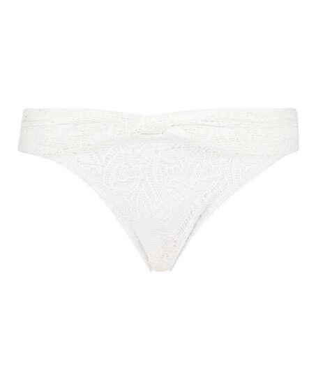 Bas de bikini Rio crochet Etta, Blanc