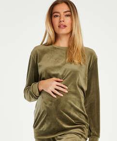 Zwangerschapstop Velours, Groen