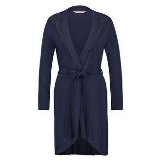 Badjas Modal Lace, Blauw