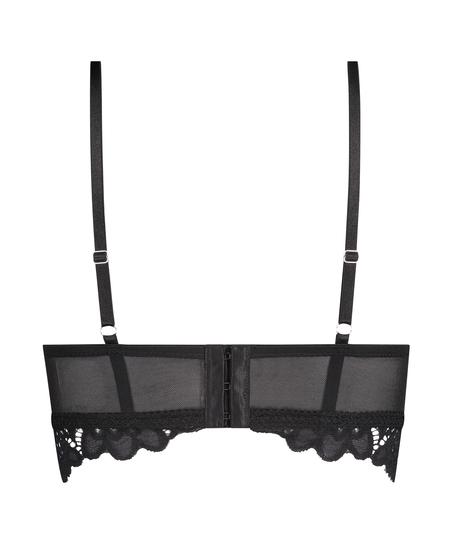 Soutien-gorge préformé sans armatures longline Shiloh, Noir