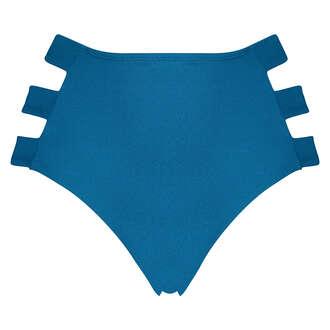 Slip de bikini taille haute Sunset Dream, Bleu