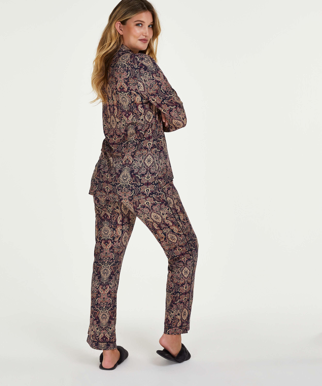 Pyjamaset Paisley, Blauw, main