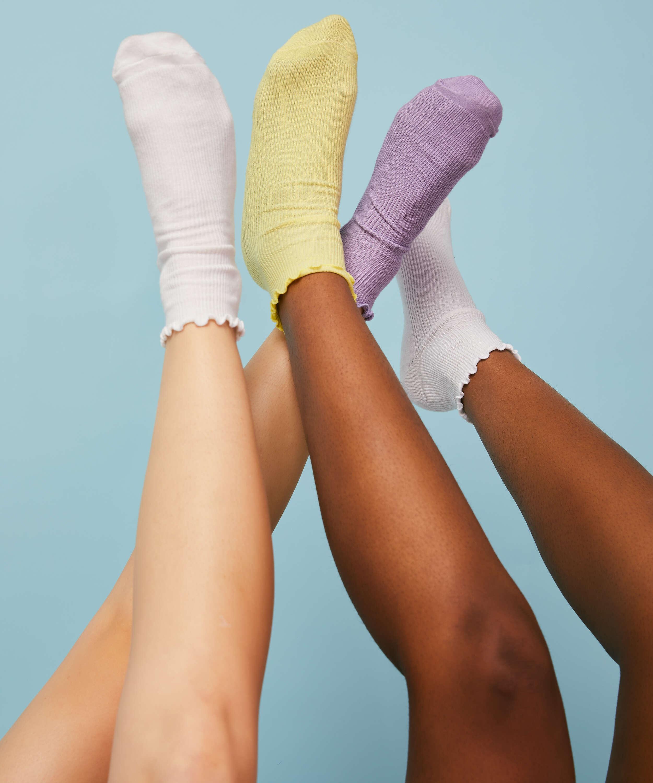 3 paar sokken It's Popping, Blauw, main