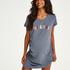 Zwangerschapsnachthemd met korte mouwen, Blauw