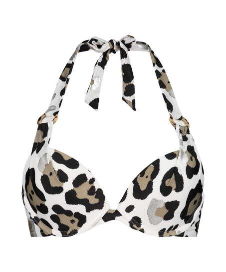 Haut de bikini push-up Animal Taille A - E, Blanc