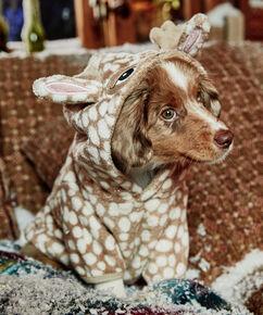 Fleece honden onesie, Bruin