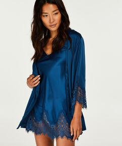 Nuisette Lace Satin Indra Petite, Bleu
