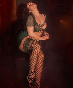 Stay-up Private Fishnet Mix, Groen