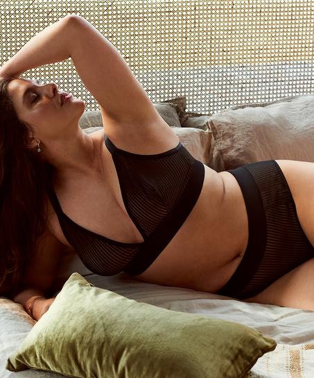 Hoog uitgesneden brazilian Meryem I AM Danielle, Zwart