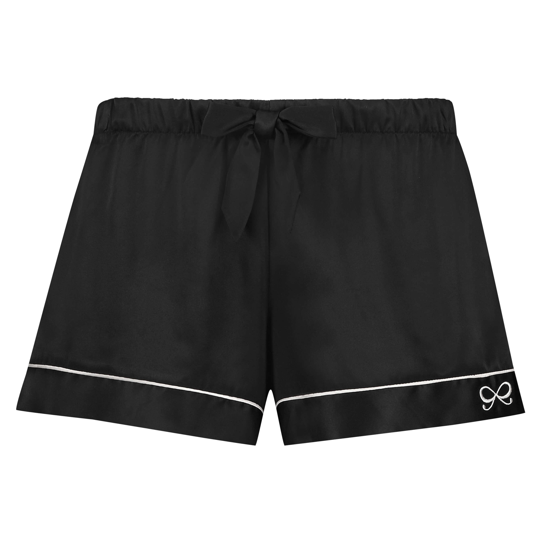 Pyjama short Satin, Zwart, main