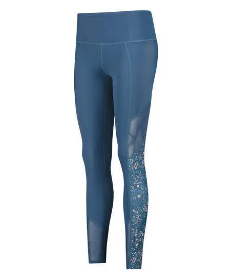 HKMX Legging de sport taille haute, Bleu