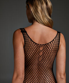 Private Catsuit Fishnet, Zwart
