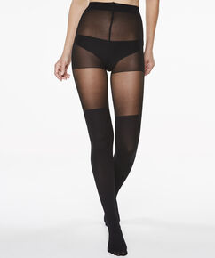 Panty Overknee sock, Zwart