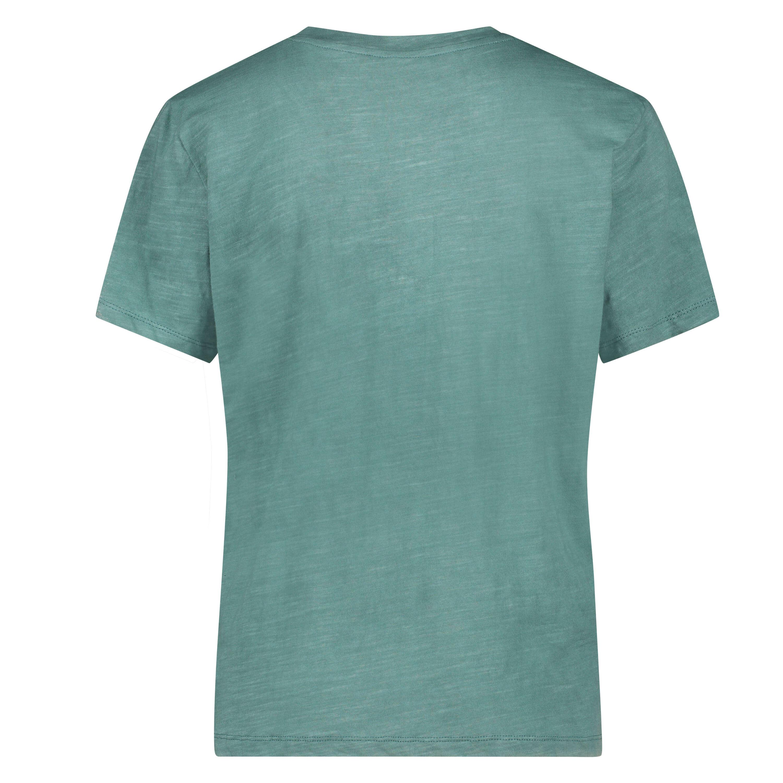 Haut de pyjama à manches courtes, Vert, main
