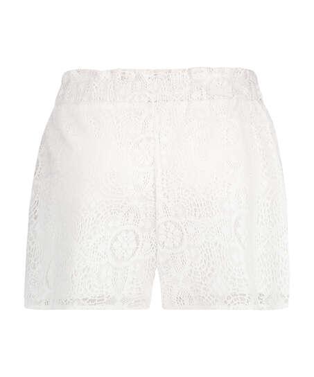 Short en dentelle, Blanc