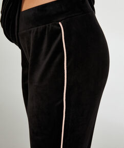 Pantalon de jogging Velours, Noir