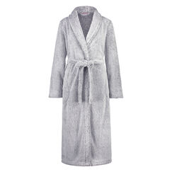 Long peignoir Polaire, Gris