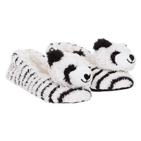 Ballerina slippers Animal Panda, Blanc