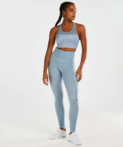HKMX High waisted sportlegging Mojave, Blauw