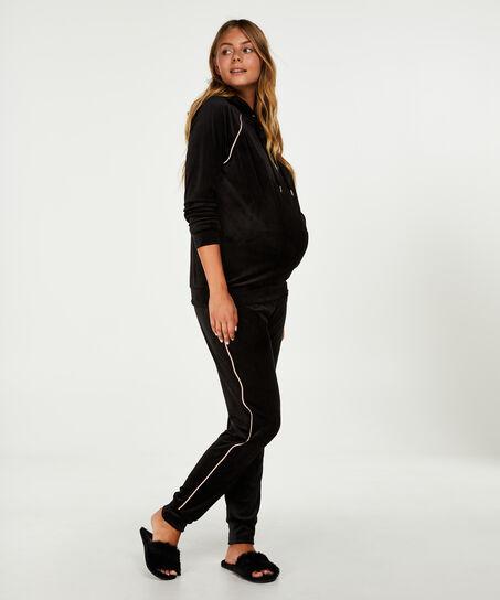 Zwangerschapsjoggingbroek Velours, Zwart