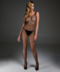 Private Catsuit Fishnet, Noir