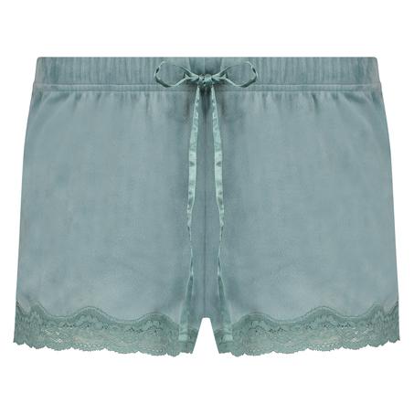 Shorts Velours Lace, Groen