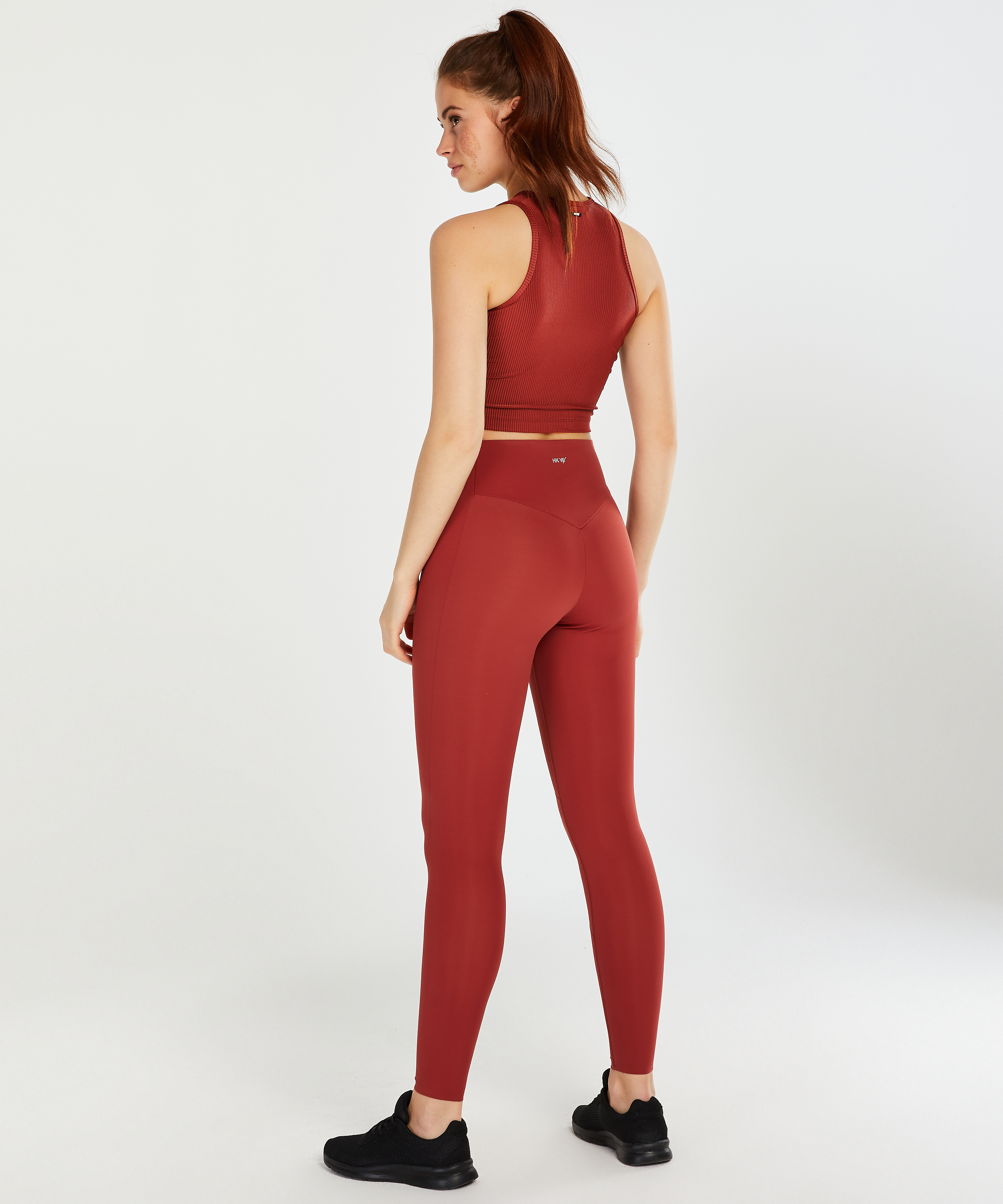 HKMX Sport cropped tank top Twisted Rib, Rouge, main