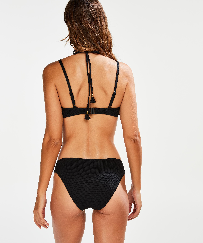 Voorgevormde beugel bikinitop Scallop Glam, Zwart, main