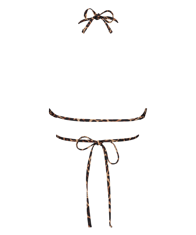 Haut de maillot de bain triangle préformé Animal Wrap HKM x NA-KD, Brun, main