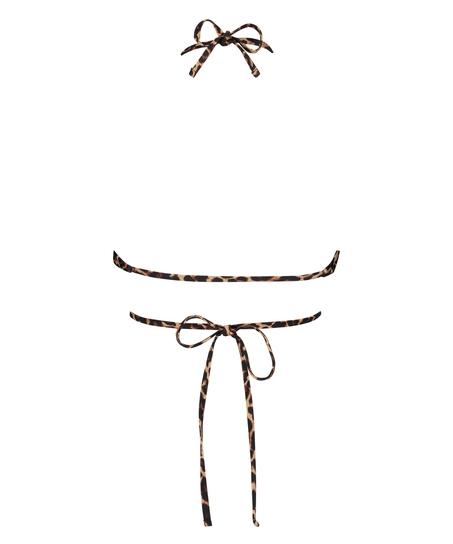 Haut de maillot de bain triangle préformé Animal Wrap HKM x NA-KD, Brun