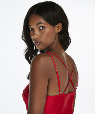 Nuisette Lace Satin, Rouge