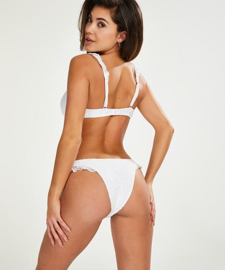 Voorgevormde beugel bikinitop Etta Crochet, Wit