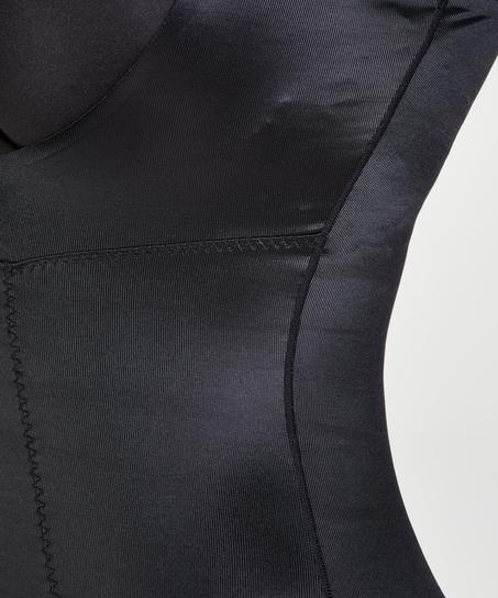Robe sculptante en dentelle scuba - Level 3, Noir