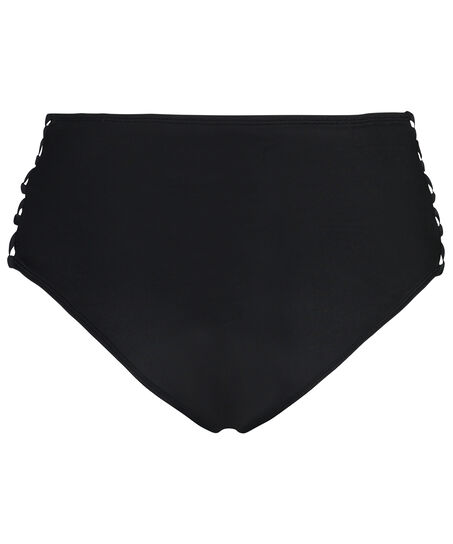 Slip de bikini taille haute Cheeky Sunset dream, Noir