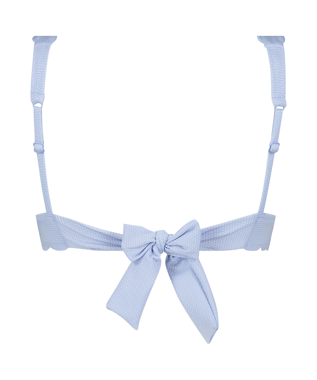 Triangle bikinitop Scallop, Blauw, main