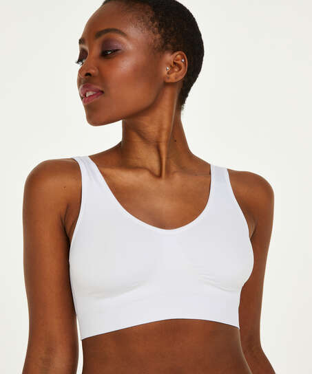 Top basic sans coutures, Blanc