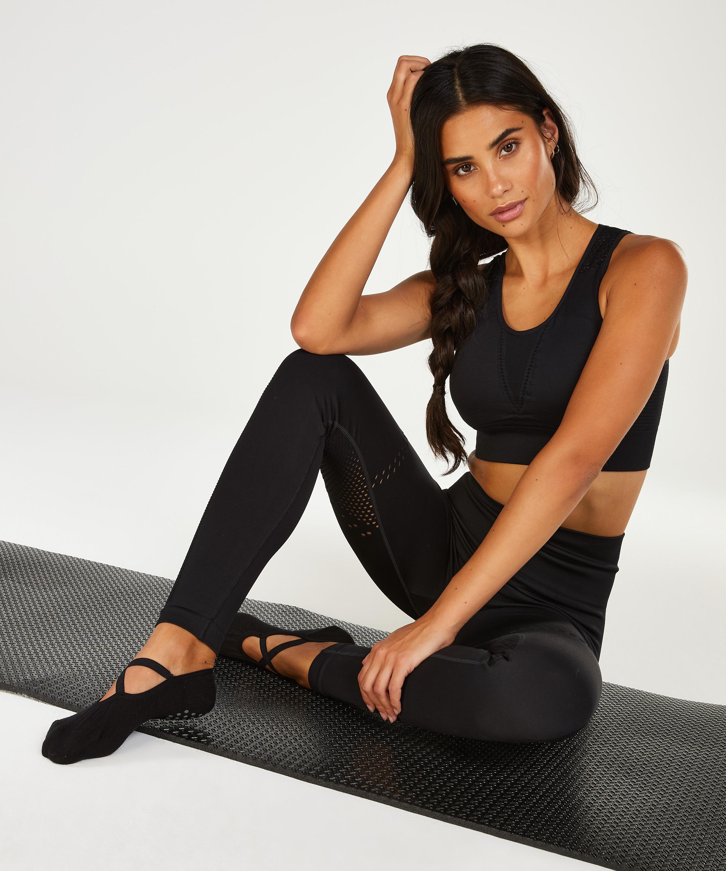 HKMX anti-slip yoga sokken, Zwart, main