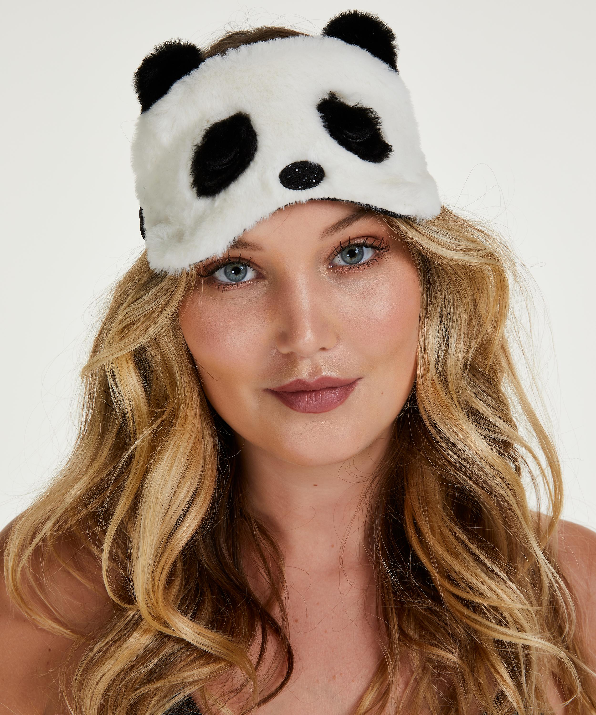 Slaapmasker Cute Panda, Wit, main