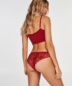 Invisible Brazilian Lace Back, Rood