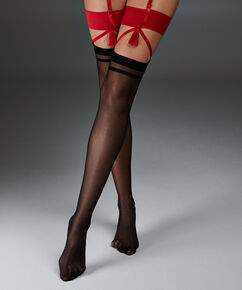 Stocking Private Kwastje, Rood