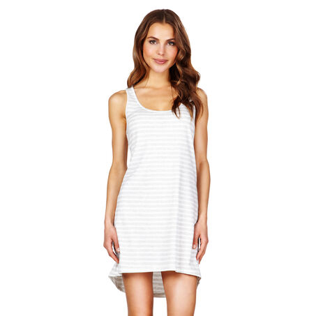Nightshirt Stripe sleeveless, Gris