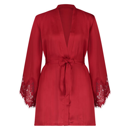 Kimono Lace Satin, Rouge