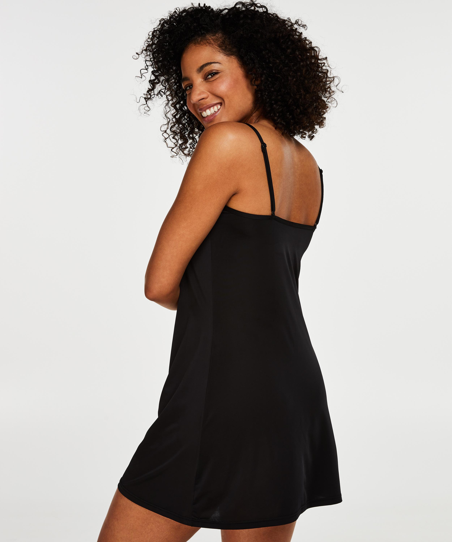 Fond de robe lissant en dentelle - Level 1, Noir, main