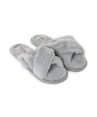 Cross Straps Indoor Sandal, Gris