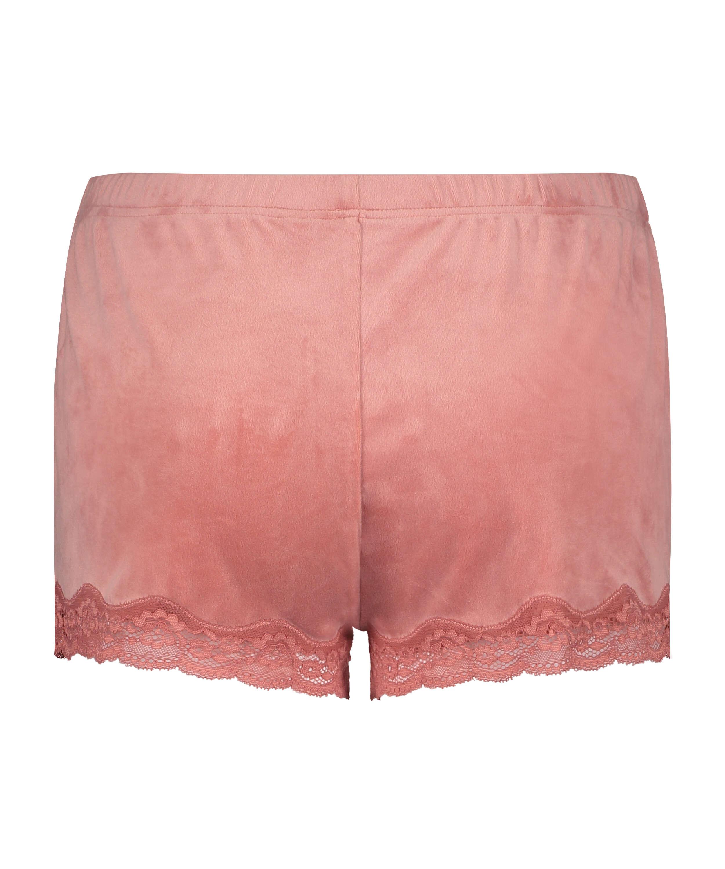 Shorts Velours Lace, Roze, main