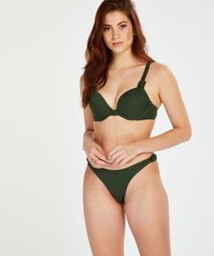 Bas de bikini échancré Luxe, Vert