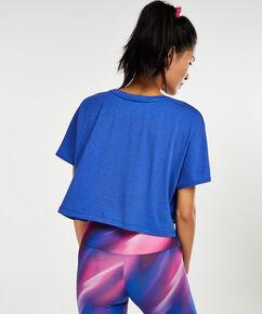 Loose fit croptop HKMX, Bleu