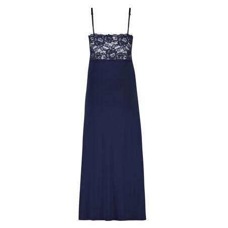 Longue nuisette Modal Lace, Bleu