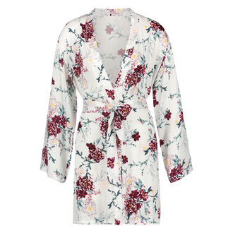 Kimono woven blossom, Blanc